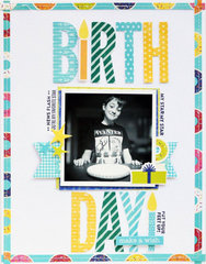 Birthday! Layout by Leanne Allinson for Jillibean Soup