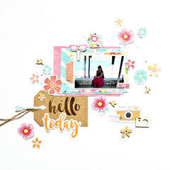 Hello Today Layout by Marie Friant for Jillibean Soup