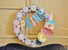 Spring Wreath by Brandi Cook for Jillibean Soup