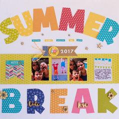 Summer Break Layout by Rebecca Keppel for Jillibean Soup