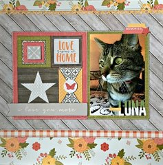 Beautiful Luna Layout by Patty Folchert