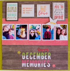 December Memories Layout by Rebecca Keppel