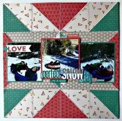 Perfect Snow Day Layout by Patty Folchert