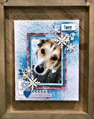 Snow Dog Canvas
