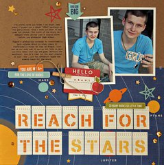 Reach For The Stars Layout by Summer Fullerton