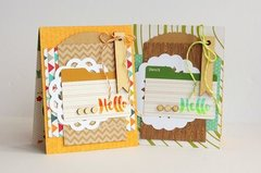 Hello Pair of Cards by Sarah Webb for Jillibean Soup