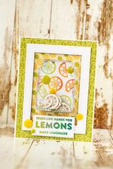 Lemons Shaker Card by Julia Akinina