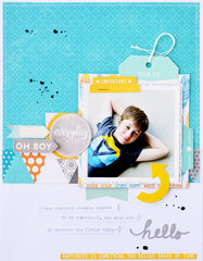 Oh Boy Layout by Leanne Allinson