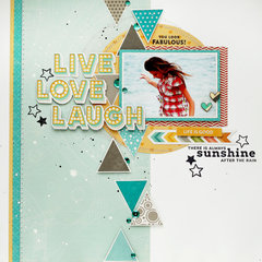 Live Love Laugh Layout by Julia Akinina