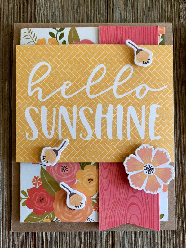 Hello Sunshine card by Kimber McGray