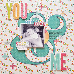 You & Me Layout by Zsoka Marko