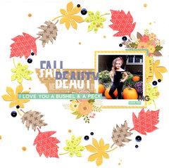Fall Beauty Layout by Kat Benjamin
