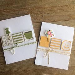 Cards made with Jillibean Day2Day Collection