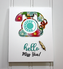 Hello Miss You! Card by Tracey McNeely