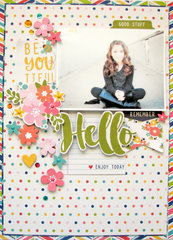 Hello Layout by Nicole Nowosad