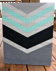 Chevron Wood Plank by Jenifer Harkin