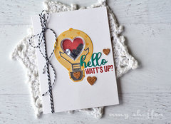 Hello Watt's Up? Card by Amy Sheffer
