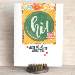 Hi!  Just Thinking About You Card by Amy Coose for Jillibean Soup