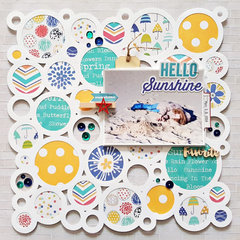 Hello Sunshine Layout by Zsoka Marko for Jillibean Soup