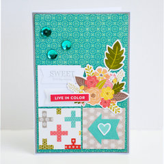 Live In Color card by Leanne Allinson