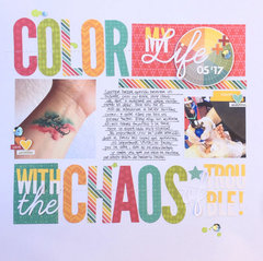 Color My Life Layout by Caroli Schulz