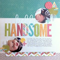 Hello Handsome Layout by Caroli Schulz