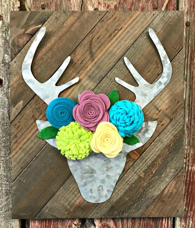 Blooming Deer Head