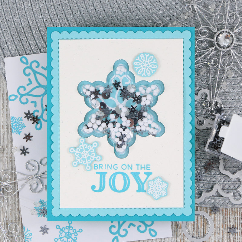 Bring Joy Christmas Shaker Card *Jilibean Soup*