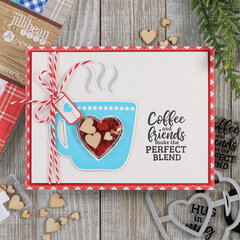 Coffee and Friends Shaker Card *Jillibean Soup*