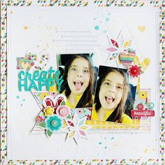 Create Happy Layout by Gail Lindner