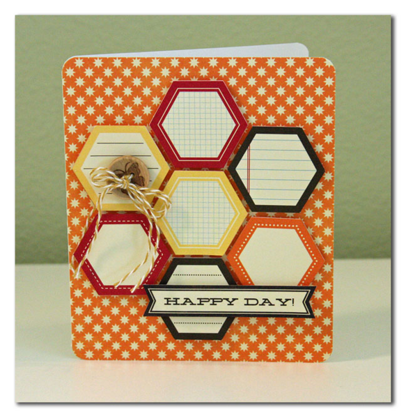 Happy Day by Summer Fullerton featuring the Hexagon Stickers from Jillibean Soup