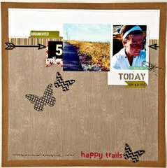 Happy Trails Layout by Valerie Mangan