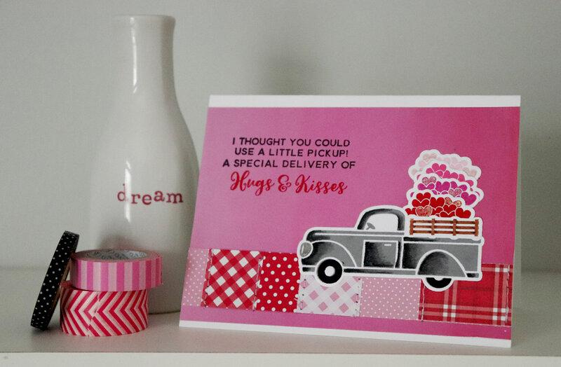 Hugs & Kisses Valentine Card *Jillibean Soup*