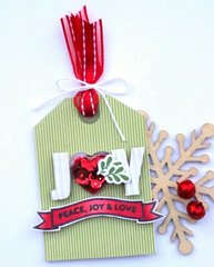 JOY Shaker Tag by Jaclyn Rench