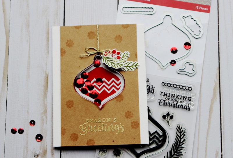 Season's Greetings Shaker Card *Jillibean Soup*
