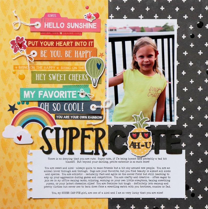 """Super Cute"" Layout *Jillibean Soup*"
