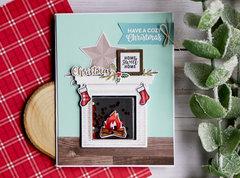 Christmas Fireplace Shaker Card *Jillibean Soup*