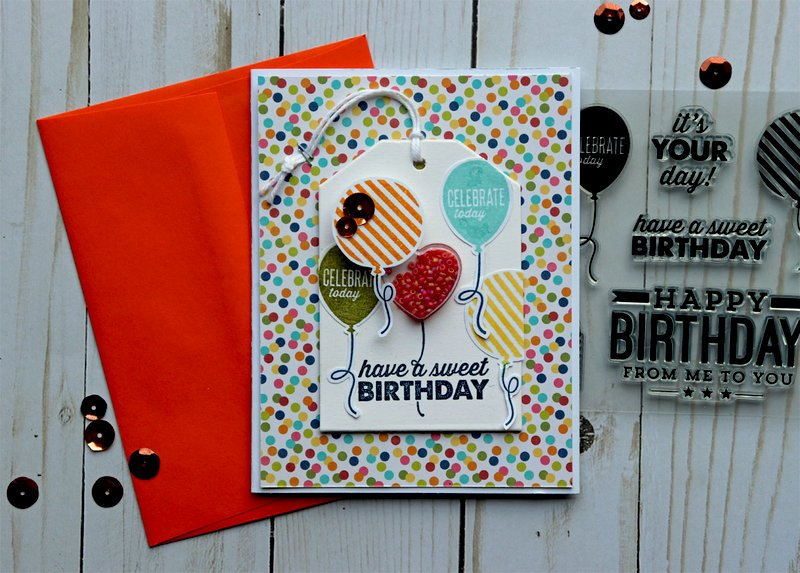 Balloon Happy Birthday Card *Jillibean Soup*