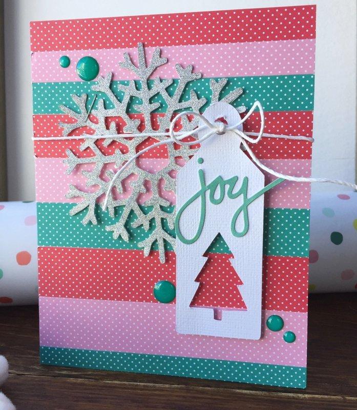 """Joy"" Christmas Card *Jillibean Soup*"