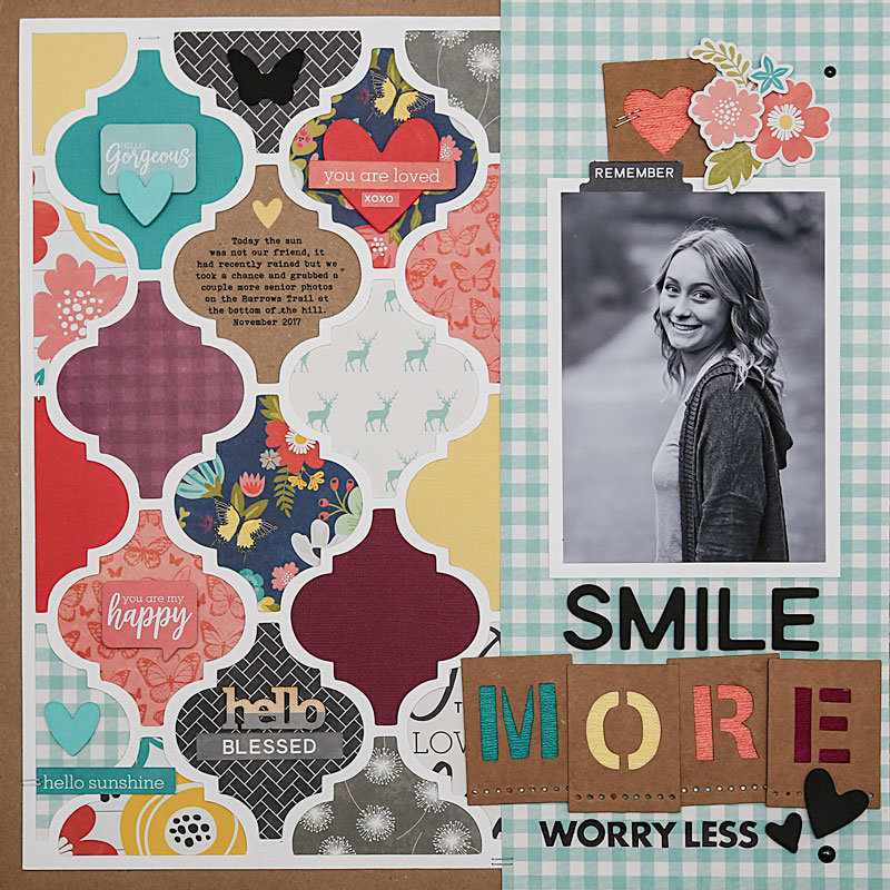 """Smile More"" Layout *Jillibean Soup*"