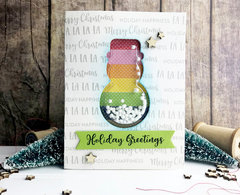 Holiday Greetings Snowman Shaker Card *Jillibean Soup*
