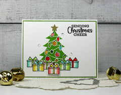 """Sending Christmas Cheer"" Tree Card *Jillibean Soup*"