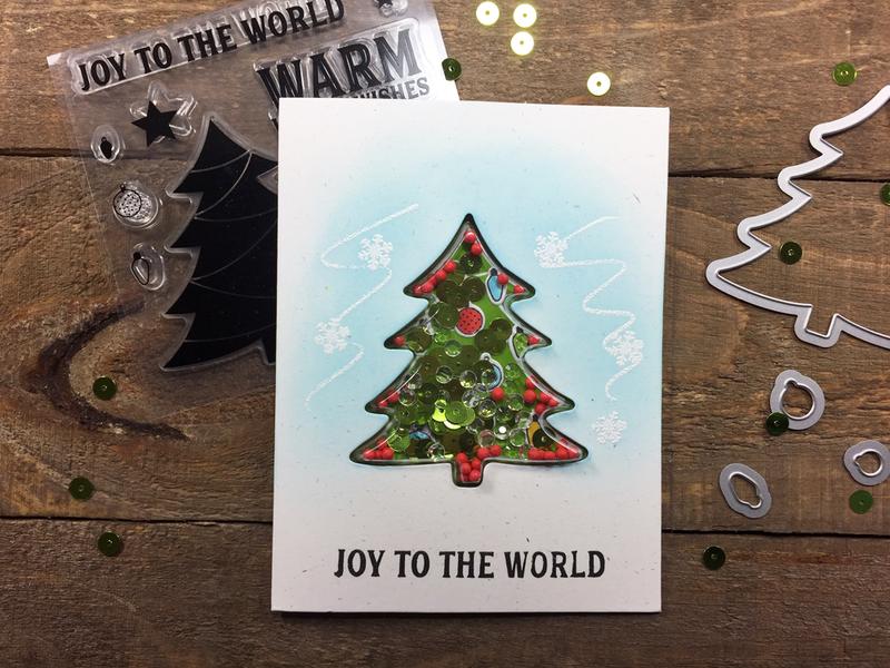 """Joy to the World"" Christmas Shaker Card *Jillibean Soup*"