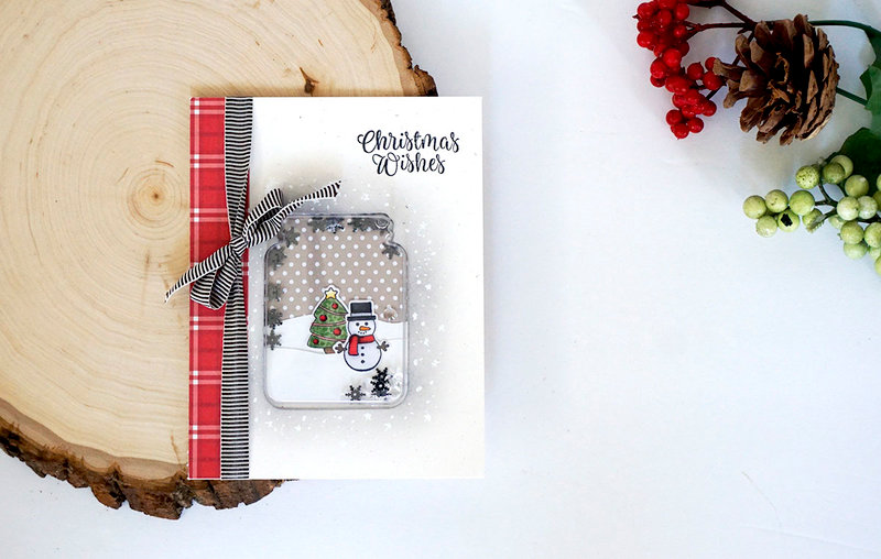 Christmas Wishes Snowman in a Jar Shaker Card *Jillibean Soup*