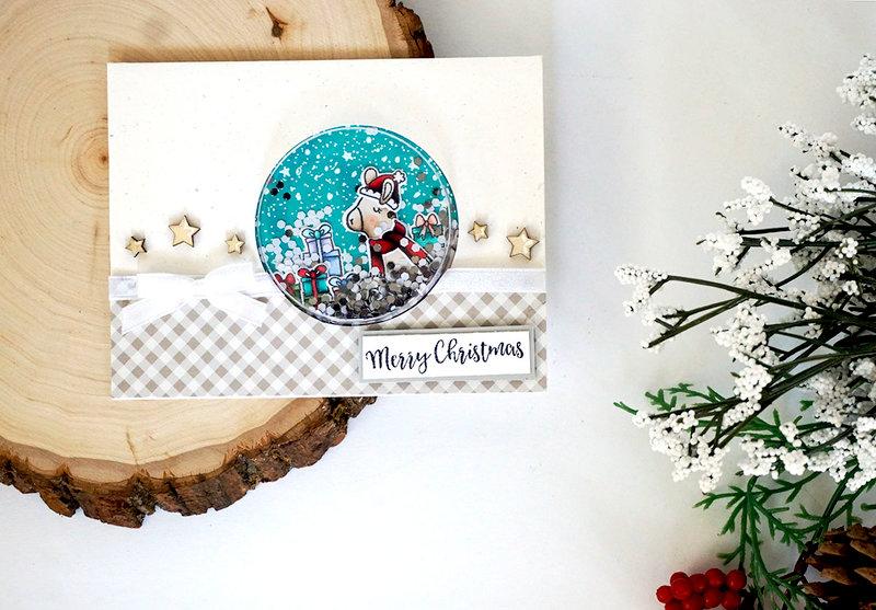 """Merry Christmas"" Llama Shaker Card *Jilibean Soup*"