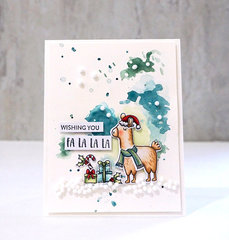 Wishing You Fa La La (Llama Card) *Jillibean Soup*