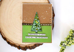 Christmas is Joy Tree Shaker Card *Jillibean Soup*
