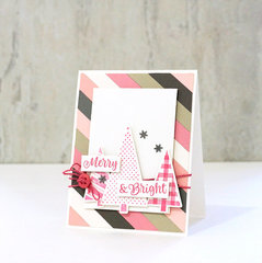 """Merry & Bright"" Pink Christmas Card *Jillibean Soup*"