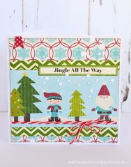 Jingle All The Way Card by Leanne Allinson