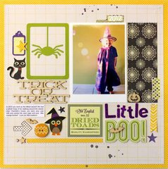 Little Boo! layout by Kim Jeffress
